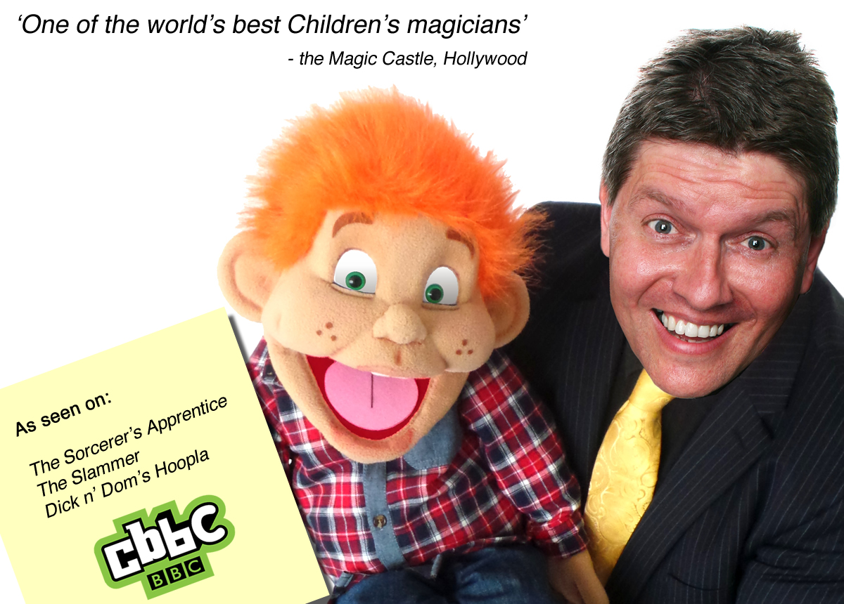 Children's Entertainer in sheffield - magician and ventriloquist